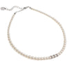 Necklace with Swarovski  code 1204 White Pearl