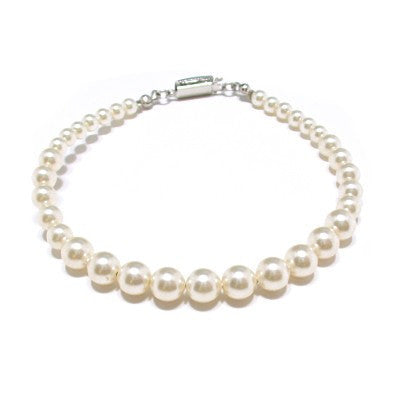 Bracelet with Swarovski  code 2205 Cream Pearl