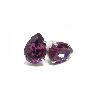 Earrings with Swarovski code 3048 Amethyst