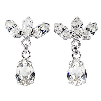 Earrings with Swarovski code 3136 Crystal white stones