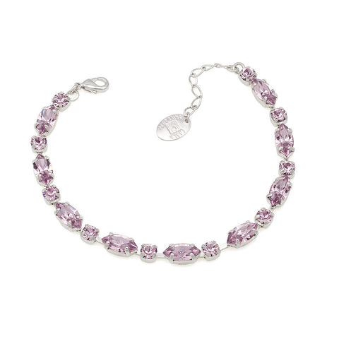 Bracelet with Swarovski  code 2002 Light Amethyst