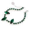 Bracelet with Swarovski  code 2009 Emerald