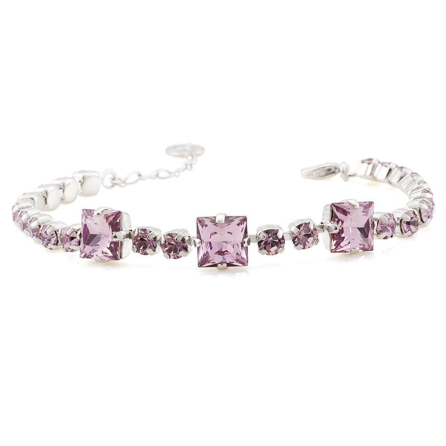 Bracelet with Swarovski  code 2018 Light Amethyst