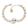 Bracelet with Swarovski  code 2036 Crystal white stones gold plating