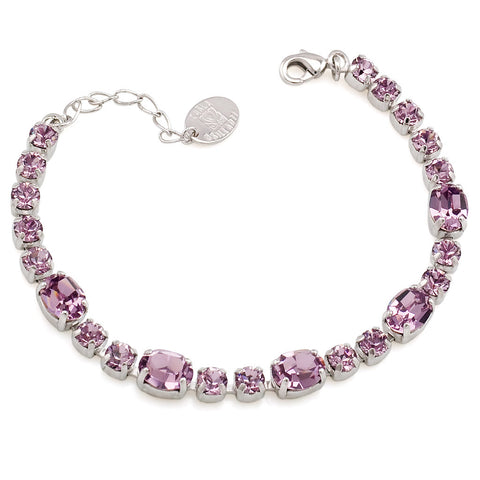 Bracelet with Swarovski  code 2062 Light Amethyst
