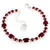 Bracelet with Swarovski  code 2062 Siam red stones