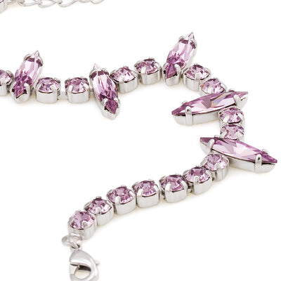 Bracelet with Swarovski  code 2063 Light Amethyst