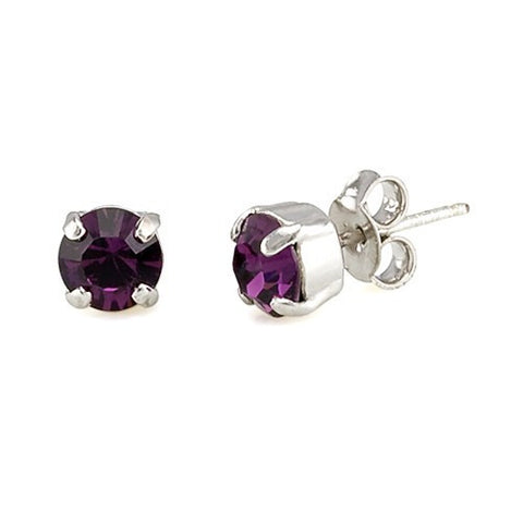 Earrings with Swarovski code 3014 Amethyst