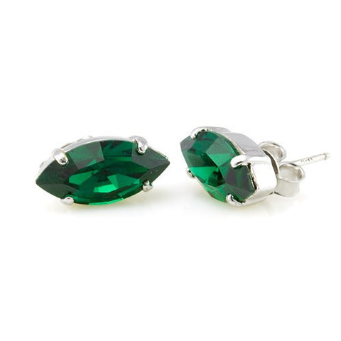 Earrings with Swarovski code 3009 Emerald