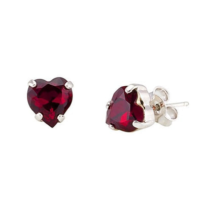 Earrings with Swarovski code 3123 Siam red stones