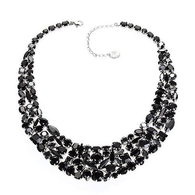 Necklace with Swarovski  code 1145 black stones