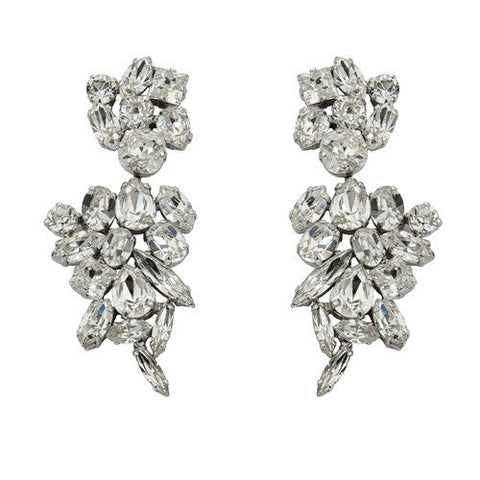 Earrings with Swarovski code 3145 Crystal white stones