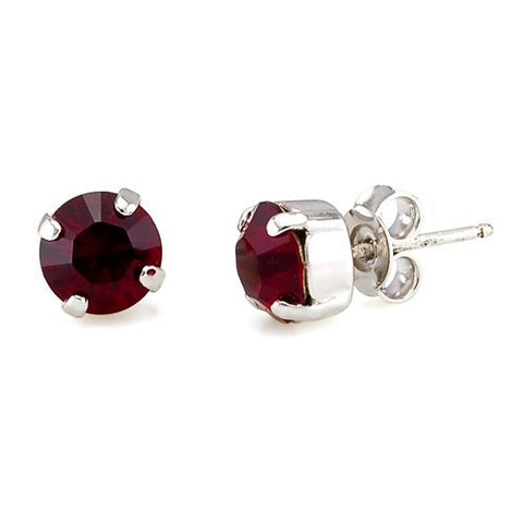 Earrings with Swarovski code 3014 Siam red stones