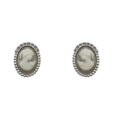Earrings with Swarovski code 3328 Crystal white stones
