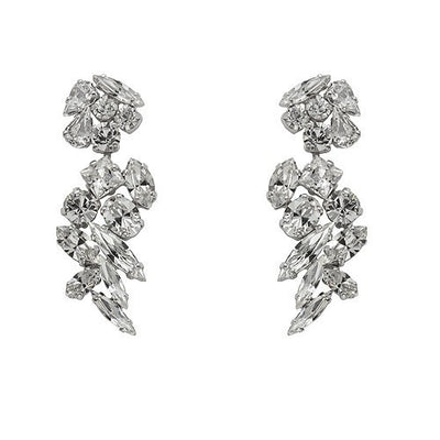 Earrings with Swarovski code 3145 S Crystal white stones