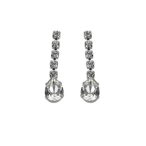 Earrings with Swarovski code 3069 Crystal white stones