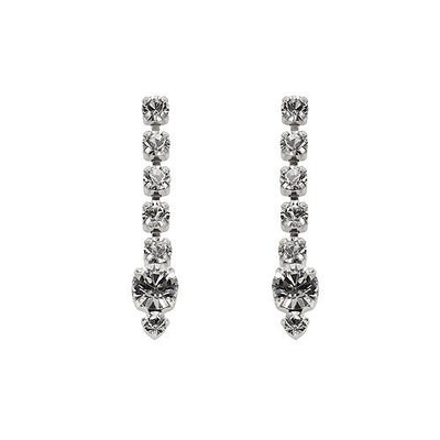 Earrings with Swarovski code 3066L Crystal white stones