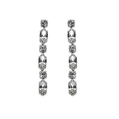 Earrings with Swarovski code 3079 Crystal white stones