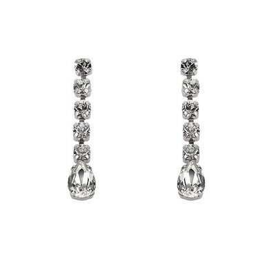 Earrings with Swarovski code 3106 Crystal white stones