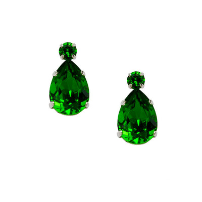 Earrings with Swarovski code 3082 Fern Green