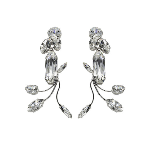 Earrings with Swarovski code 3143S Crystal white stones
