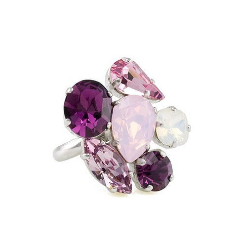 Ring with Swarovski Combination of coloured stones code 7025