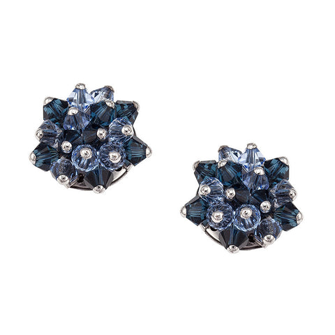 Earrings with Swarovski code 3315 Montana
