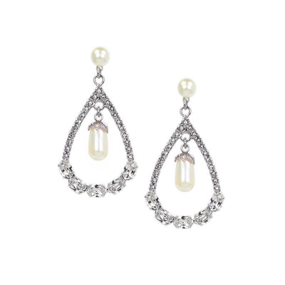 Earrings with Swarovski Infinity Pearl