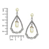 Earrings Infinity Pearl