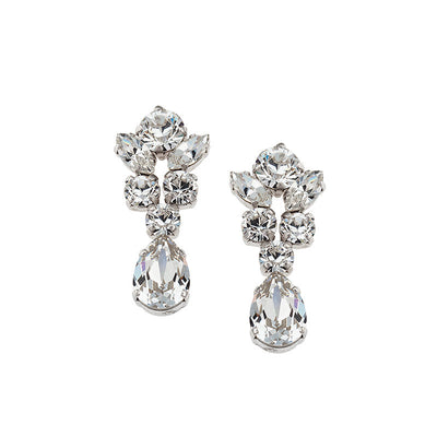 Earrings with Swarovski code 3507 Crystal white stones