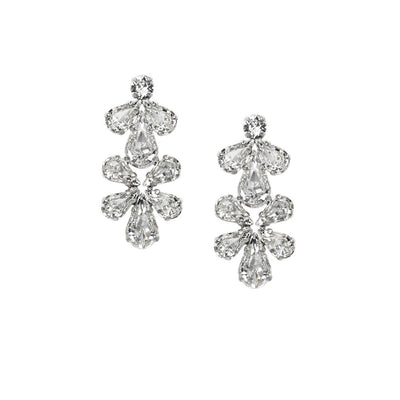 Earrings with Swarovski code 3508 Crystal white stones