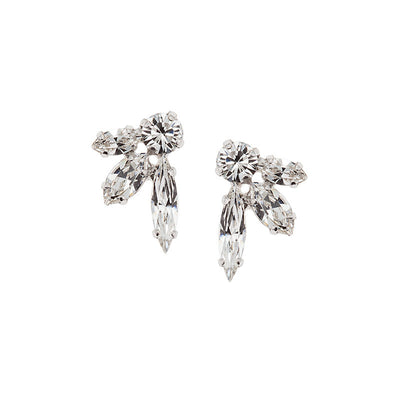 Earrings with Swarovski code 3509 Crystal white stones
