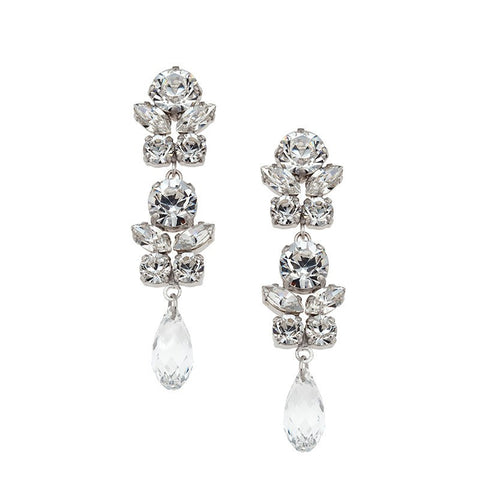 Earrings with Swarovski Marielle Crystal white stones