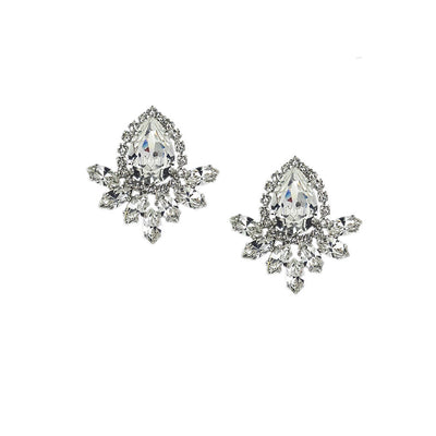 Earrings with Swarovski Crystal white stones code 3581