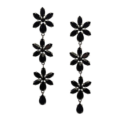 Earrings with Swarovski code 3594 Black