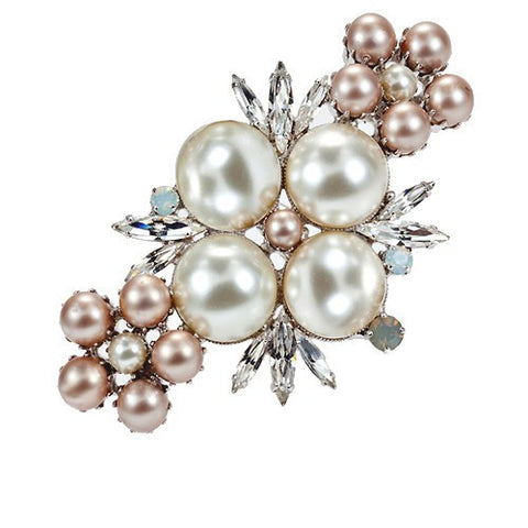 Brooches with Swarovski  Pearls code 5043
