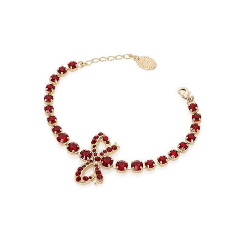 Bracelet with Swarovski  code 2553 Siam red stones G