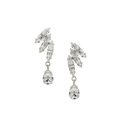 Earrings with Swarovski code 3510 Crystal white stones