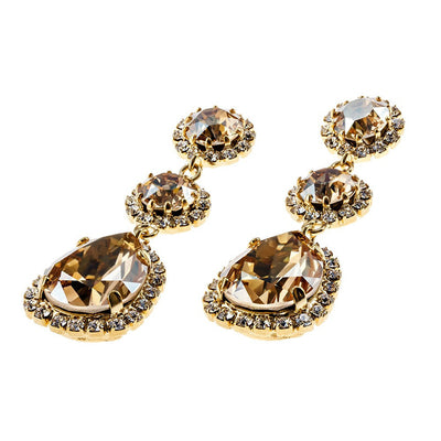 Graceful Golden Tear Earrings