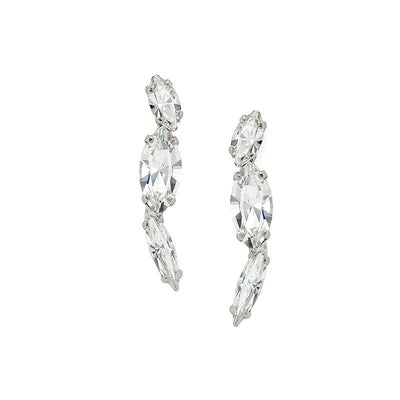 Earrings with Swarovski code 3547 Crystal white stones