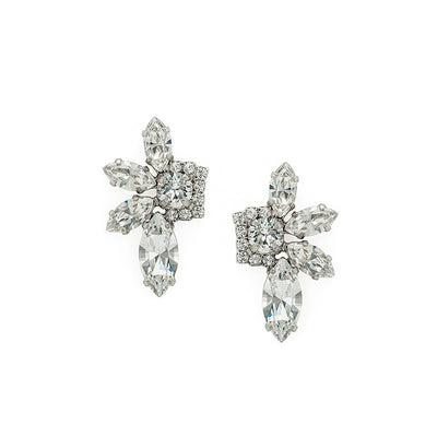 Earrings with Swarovski code 3549 Crystal white stones