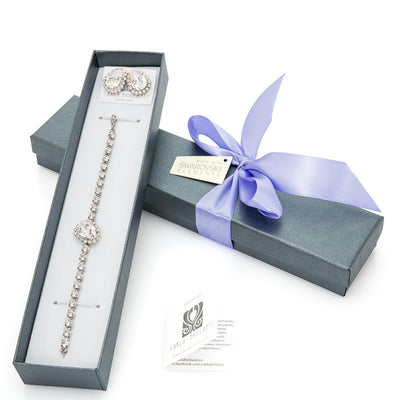gift jewellery set with Swarovski stones Anastasia