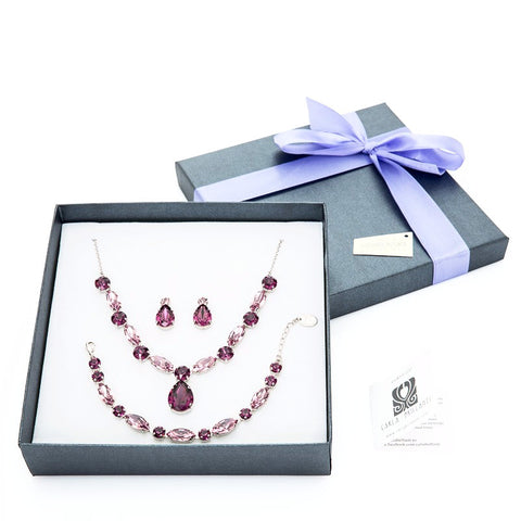 gift jewellery set with Swarovski stones Anca