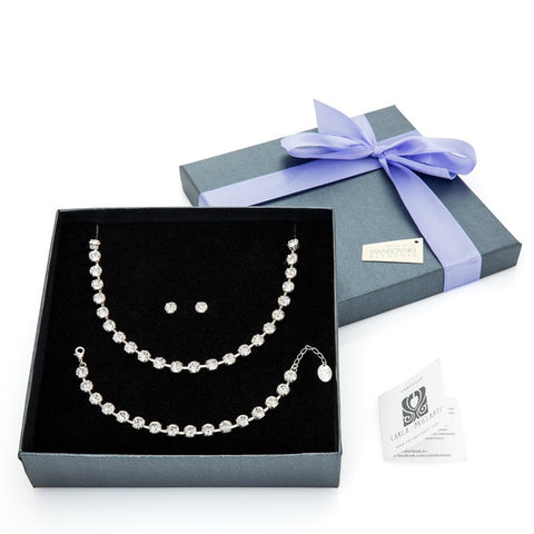 gift jewellery set with Swarovski stones Sarah