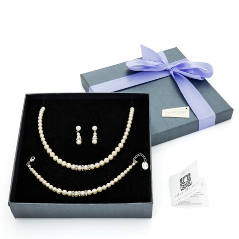 gift jewellery set with Swarovski stones Princess