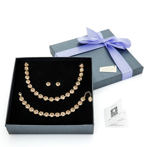 gift jewellery set with Swarovski stones Valery