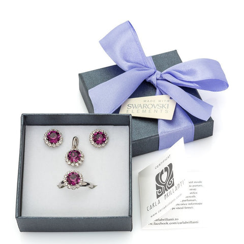 gift jewellery set with Swarovski stones Chiara