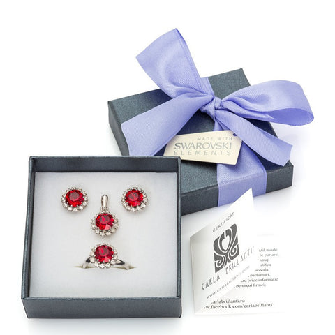 gift jewellery set with Swarovski stones Corinne