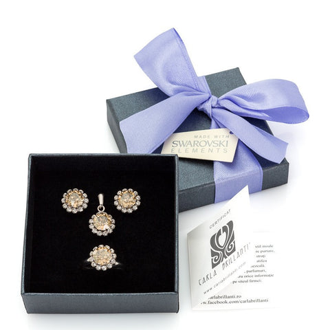 gift jewellery set with Swarovski stones Celine