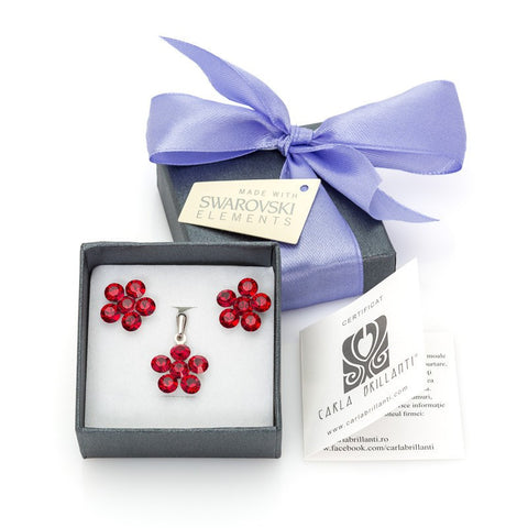 gift jewellery set with Swarovski stones Marla